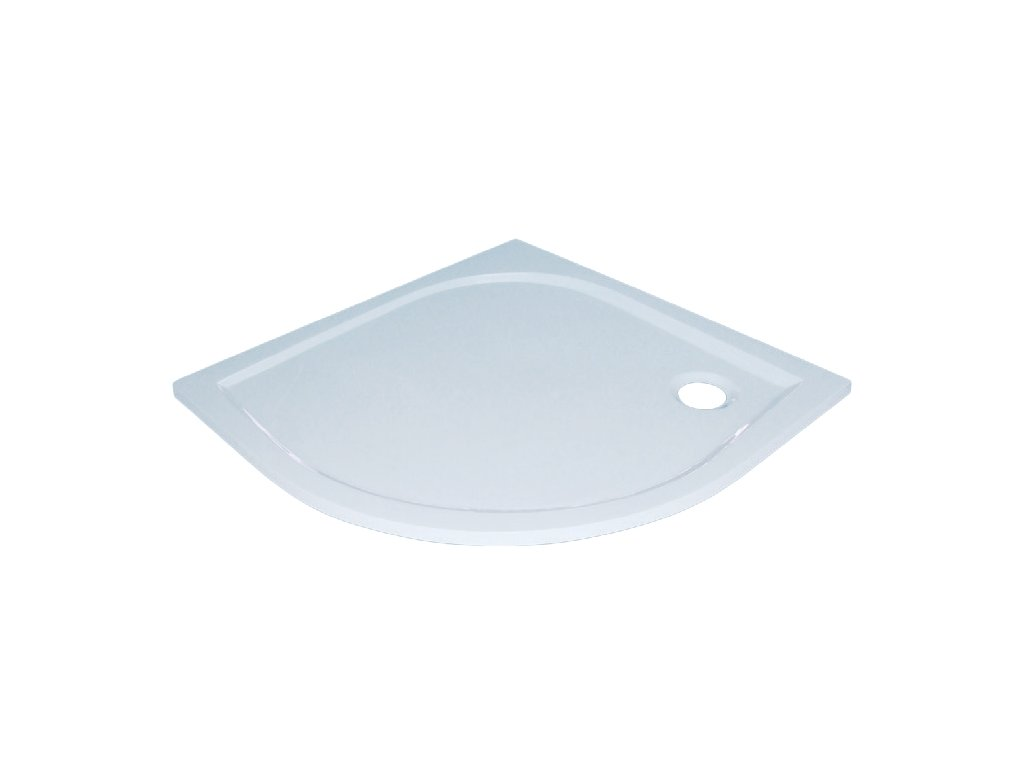 Sanotechnik Dita sprchová vanička, liaty mramor, štvrťkruh, 80cm, 20000 (Čelný panel S čelným panelom)