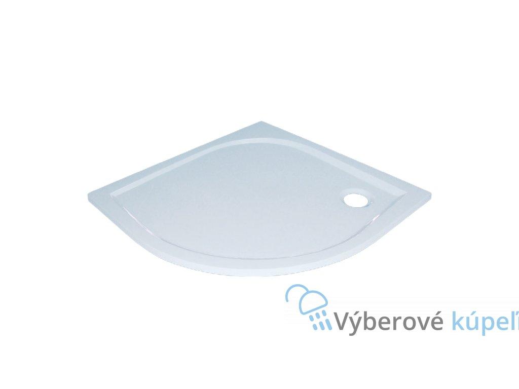 Sanotechnik Dita sprchová vanička, liaty mramor, štvrťkruh, 100cm, 20020 (Čelný panel S čelným panelom)