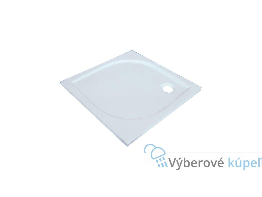 Sanotechnik Aneta sprchová vanička, liaty mramor, štvorec, 100cm, 90050 (Čelný panel S čelným panelom)
