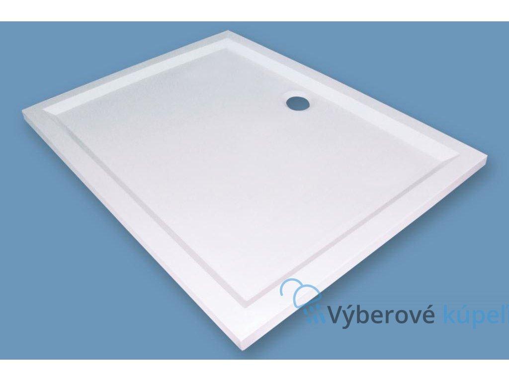 Sanotechnik Viva sprchová vanička, liaty mramor, obdĺžnik, 120x80cm, 90020 (Čelný panel S čelným panelom)