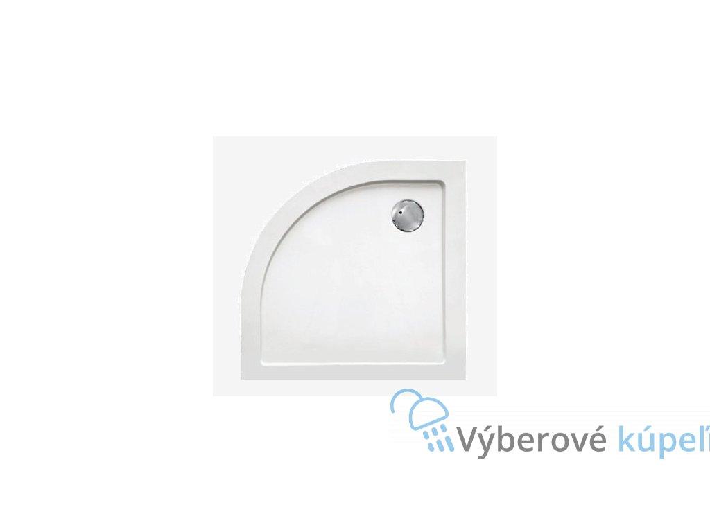 Sanotechnik sprchová vanička, SMC tvrdený polymér, štvrťkruh, 80cm, SC8080R (Nožičky S nožičkami (8ks))
