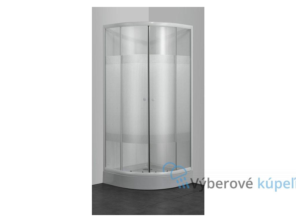 39773 sanotechnik stvrtkruhovy sprchovy kut sirka 90cm posuvne dvere