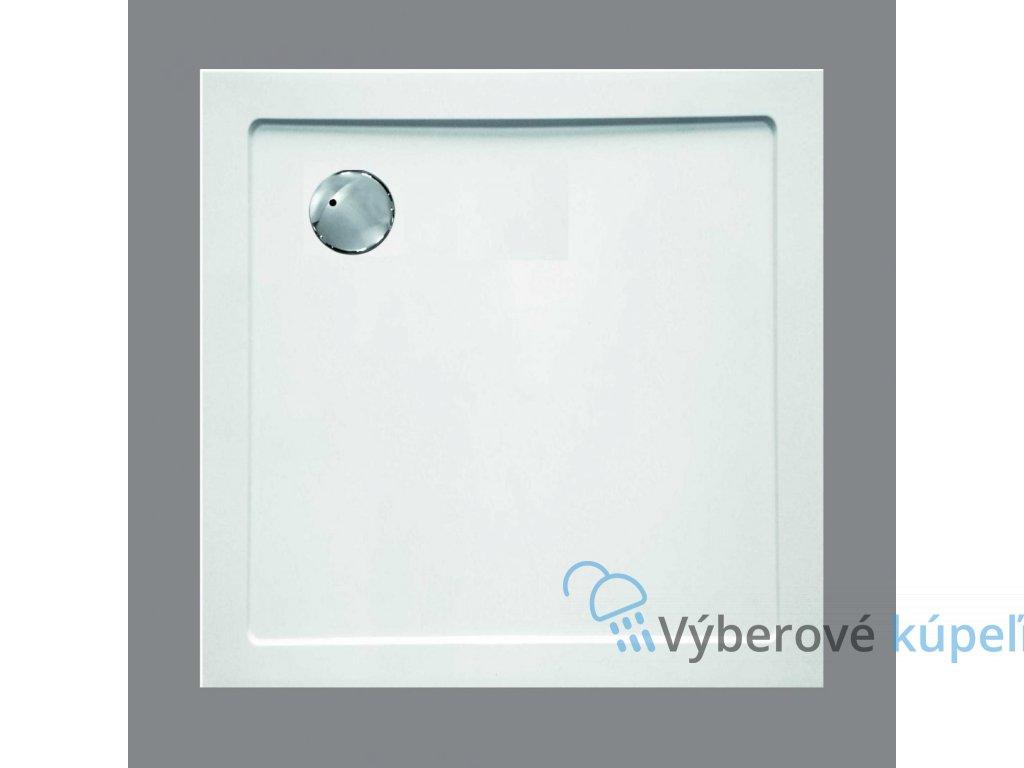 Sanotechnik sprchová vanička, SMC tvrdený polymér, štvorec , 80cm, SC8080S (Nožičky S nožičkami (9ks))