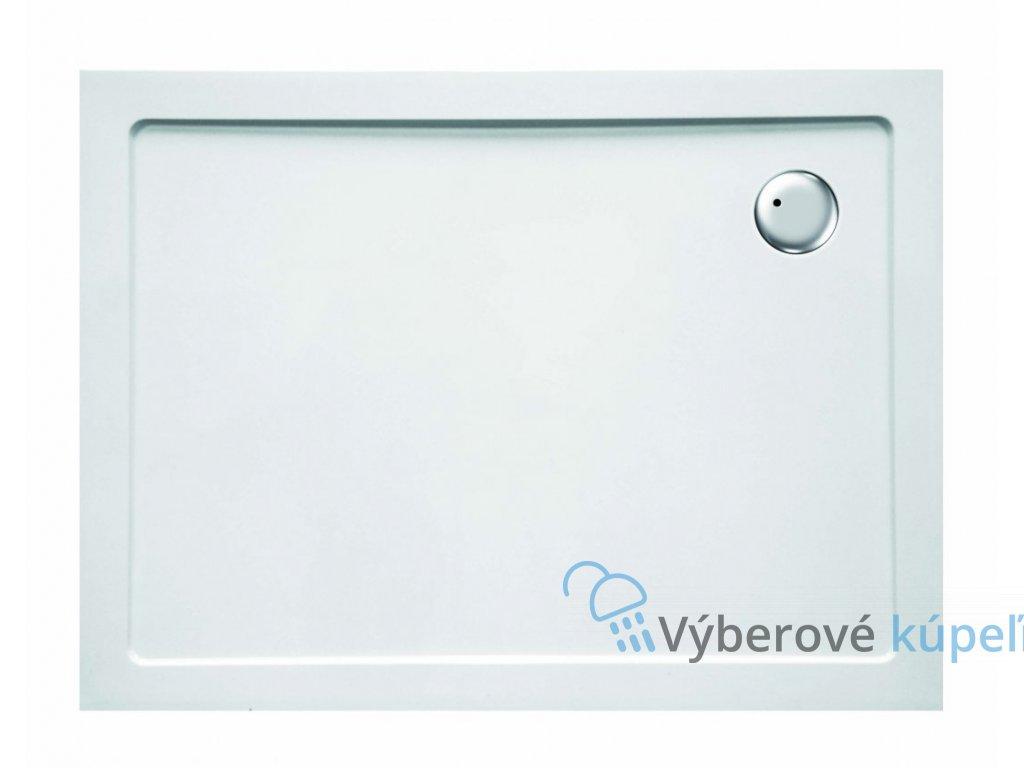 Sanotechnik sprchová vanička, SMC tvrdený polymér, obdĺžnik, 100x80cm, odtok v rohu, SC1080S (Nožičky S nožičkami (12ks))