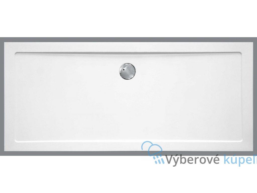 Sanotechnik sprchová vanička, SMC tvrdený polymér, obdĺžnik, 120x80cm, SC1280S (Nožičky S nožičkami (12ks))