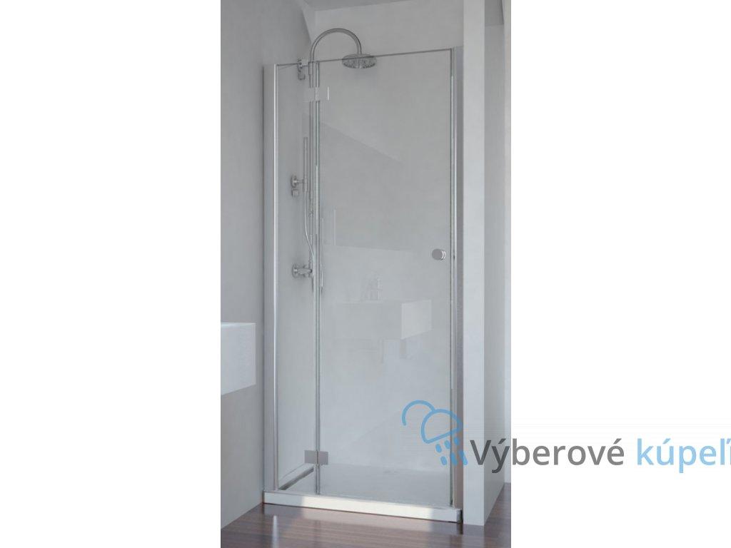 Sanotechnik Smartflex sprchové dvere, šírka 90cm, otváravé s pevnou časťou + nástenný profil (Šírka nástenného profilu Šírka nástenného porfilu 3,4 - 4,5 cm, Umiestnenie dverí Pravé dvere)