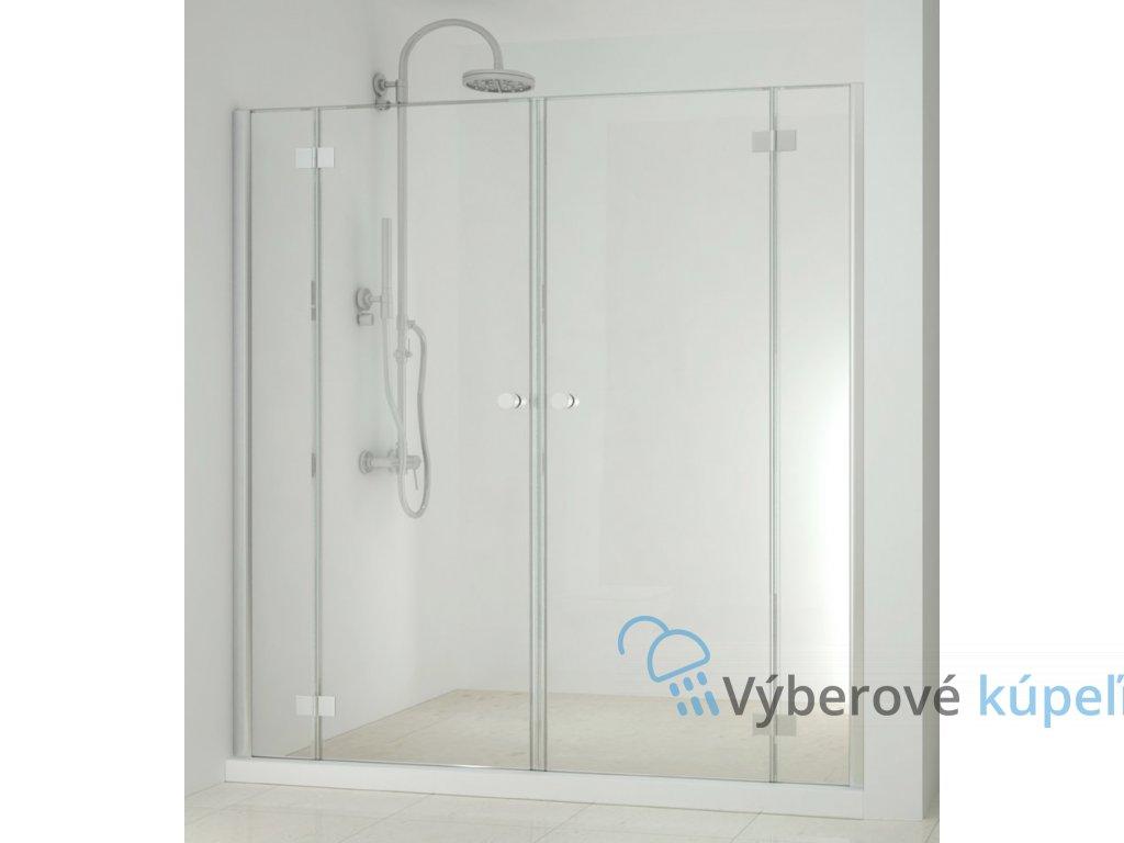 4313 sanotechnik smartflex sprchova zastena 2x otvarave dvere sirka 160 240cm d1280l d1281r
