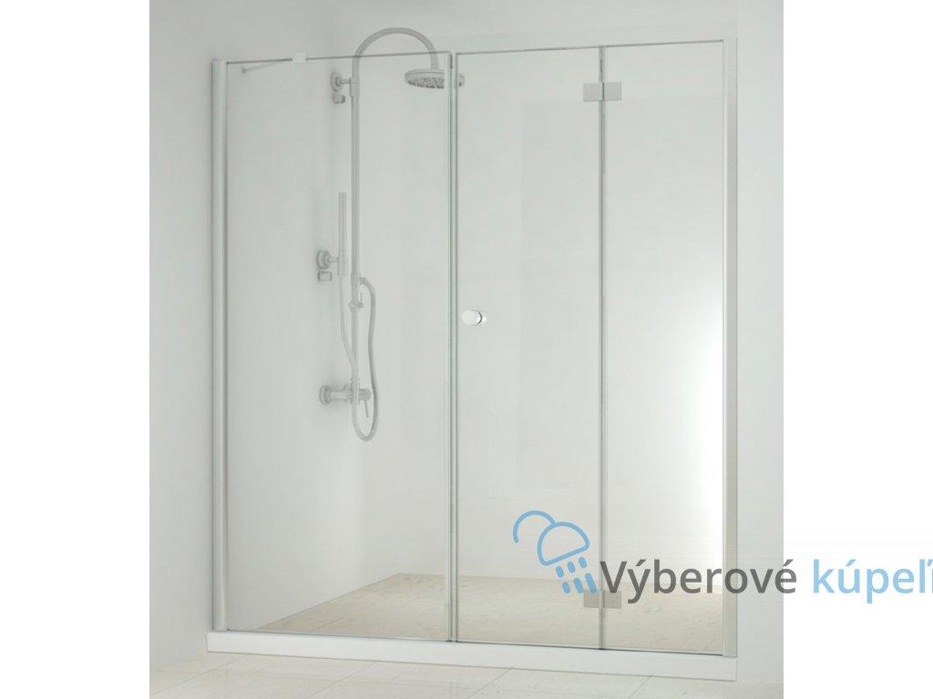 4316 sanotechnik smartflex sprchova zastena fix zalamovacie dvere sirka 150 220cm d1170 d1281fr