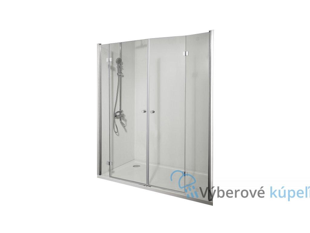 4319 sanotechnik smartflex sprchova zastena 2x zalamovacie dvere sirka 160 200cm d1280fl d1281fr