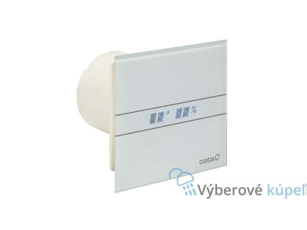 CATA E100 GTH, ventilátor do kúpeľne s časovačom a vlhkomerom, biely