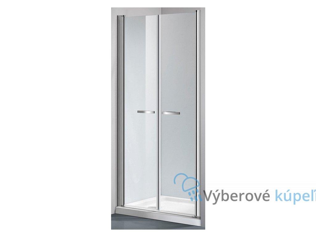 Arttec Comfort, sprchové dvere šírka 80cm, otváravé dvojkrídlové (Farba skla Sklo grape)