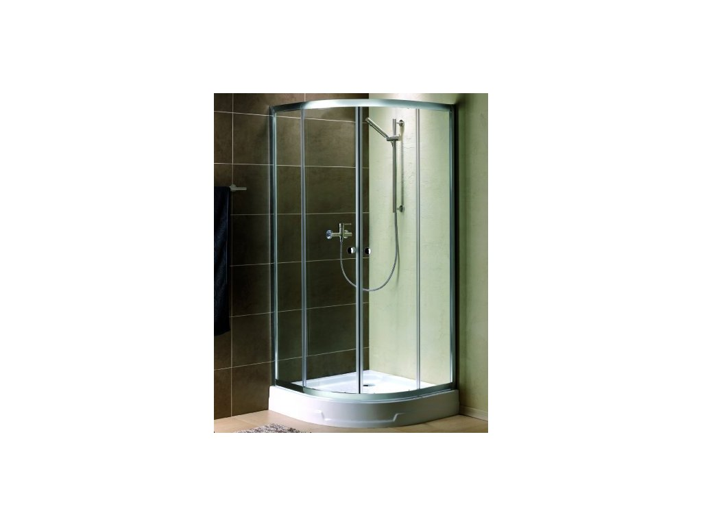 4799 radaway premium plus a1900 stvrtkruhovy sprchovy kut sirka 100cm posuvne dvere cire sklo 30423 01 01n
