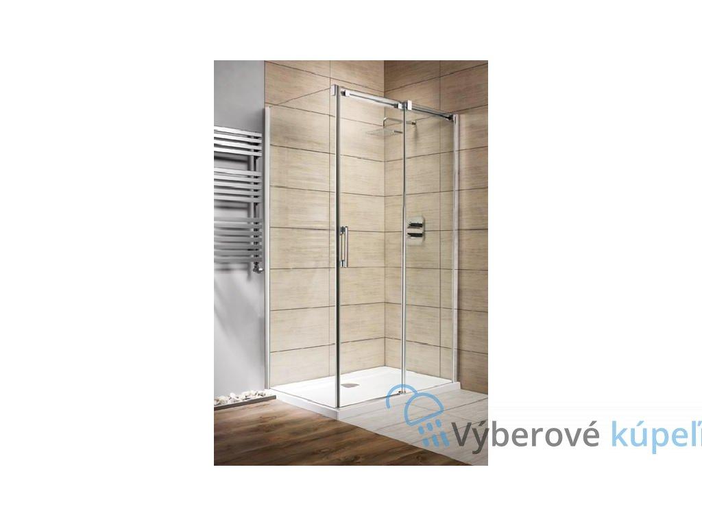 Radaway Espera KDJ, obdĺžnikový sprchový kút, 100x80cm, posuvné dvere, číre sklo (Umiestnenie dverí Pravé dvere)