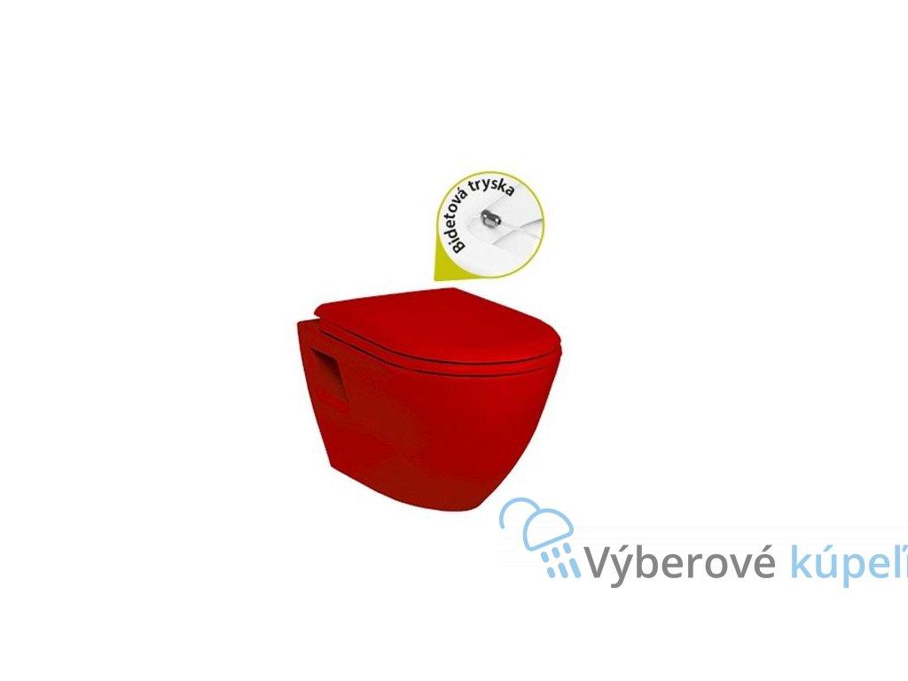 4880 wcbidet 2v1 zavesny tekko cerveny tp325red