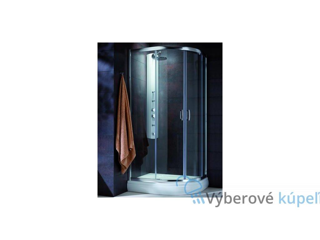 4916 radaway premium plus e1900 stvrtkruhovy asymetricky sprchovy kut 90x80cm posuvne dvere cire sklo 30492 01 01n