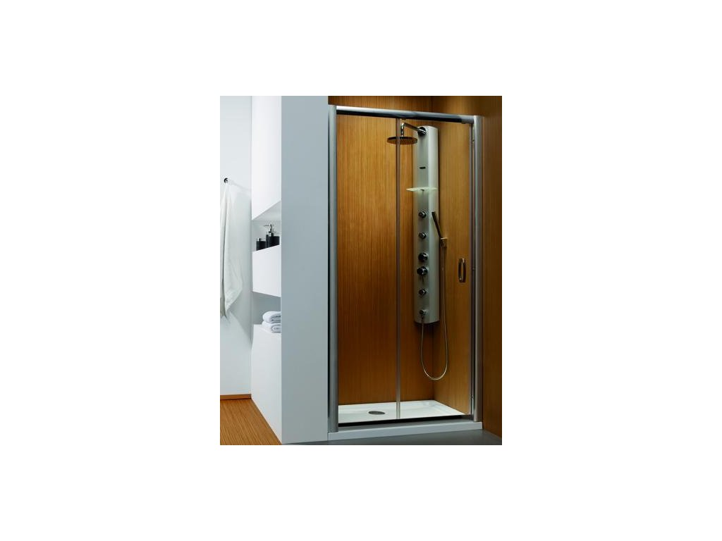 4955 radaway premium plus dwj sprchove dvere sirka 140cm posuvne cire sklo 33323 01 01n