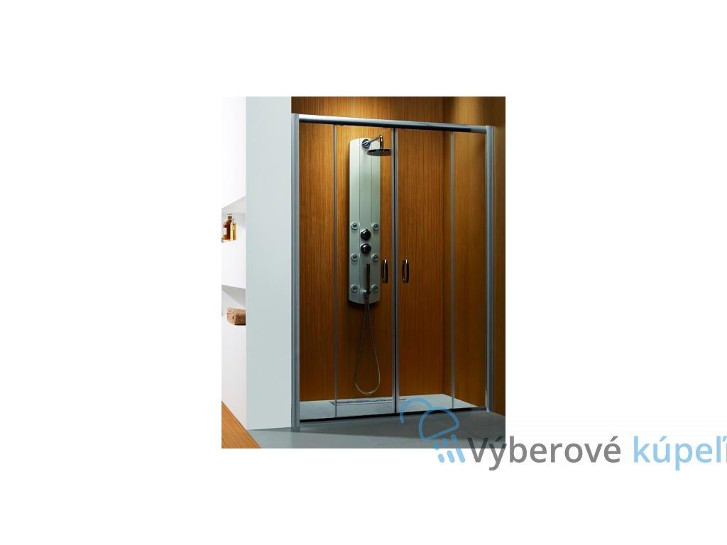 4964 radaway premium plus dwd sprchove dvere sirka 150cm posuvne cire sklo 33393 01 01n