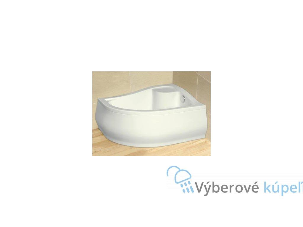 Radaway Korfu E sprchová vanička hlboká, akrylát, oblá 100x80cm (Umiestnenie Umiestnenie vpravo)