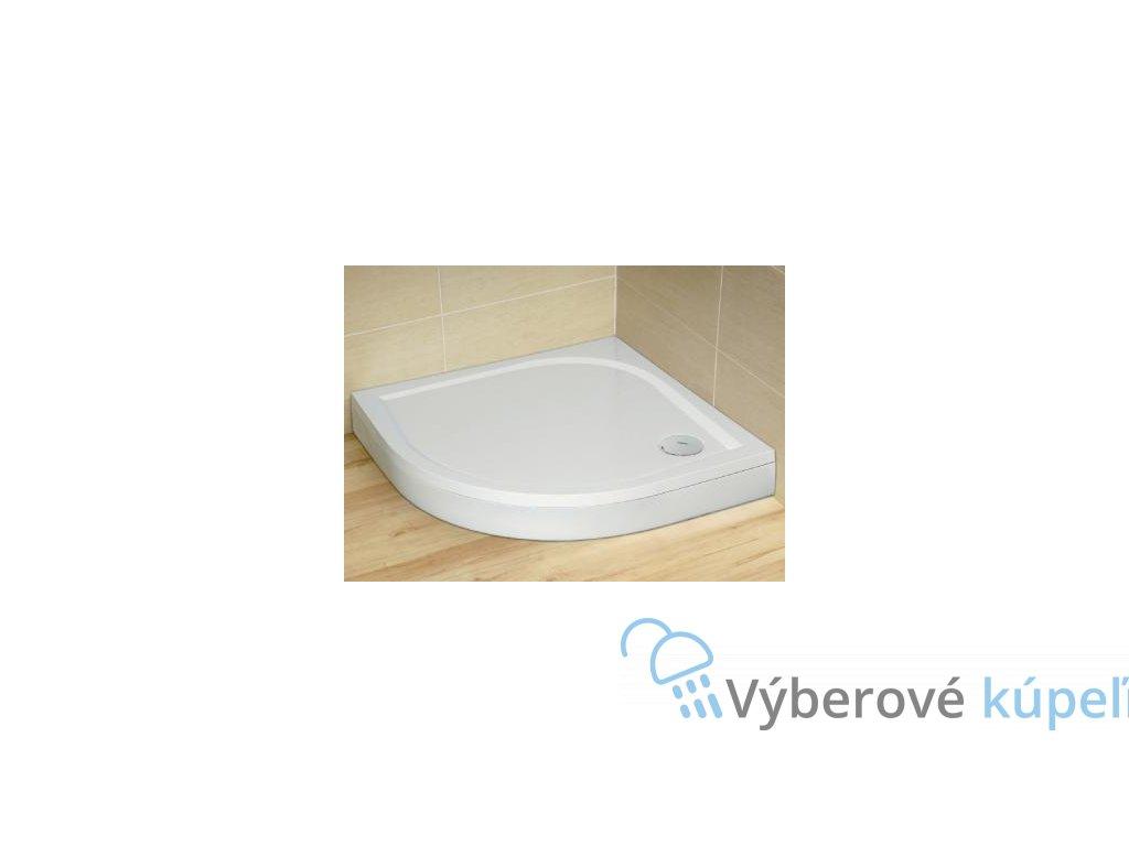 Radaway Paros A sprchová vanička, liaty mramor, štvrťkruh 90cm (Čelný panel S čelným panelom)