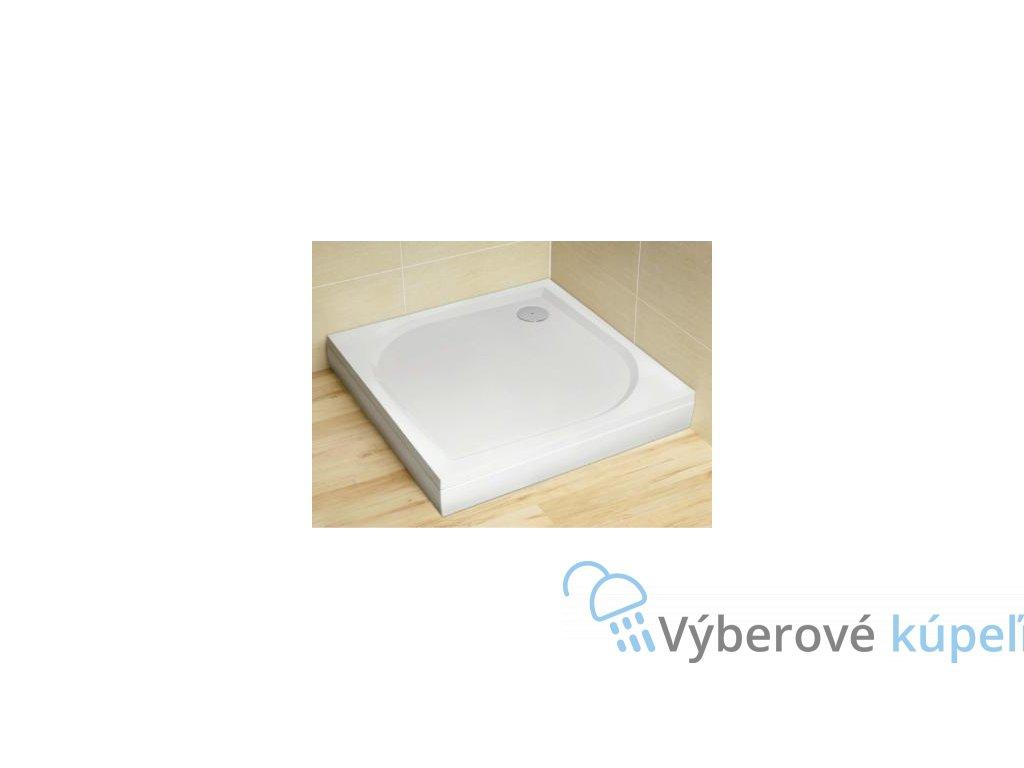 Radaway Paros D sprchová vanička, liaty mramor, obdĺžnik 100x80cm (Čelný panel S čelným a bočným panelom)
