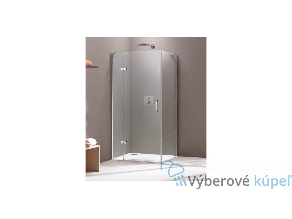 HUPPE Aura obdĺžnikový sprchový kút 90x80cm, 400302093322 + 400603092322 (Umiestnenie dverí Pravé dvere)