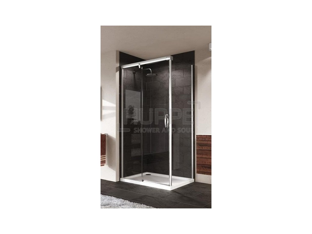 HUPPE Aura obdĺžnikový sprchový kút, 120x80cm, posuvné dvere, 401414092322 + 401606092322 (Umiestnenie dverí Pravé dvere)