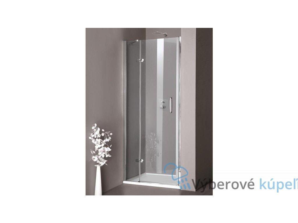 HUPPE Aura STN sprchové dvere, šírka 100cm, otváravé s pevnou časťou 400103092322 (Umiestnenie dverí Pravé dvere)