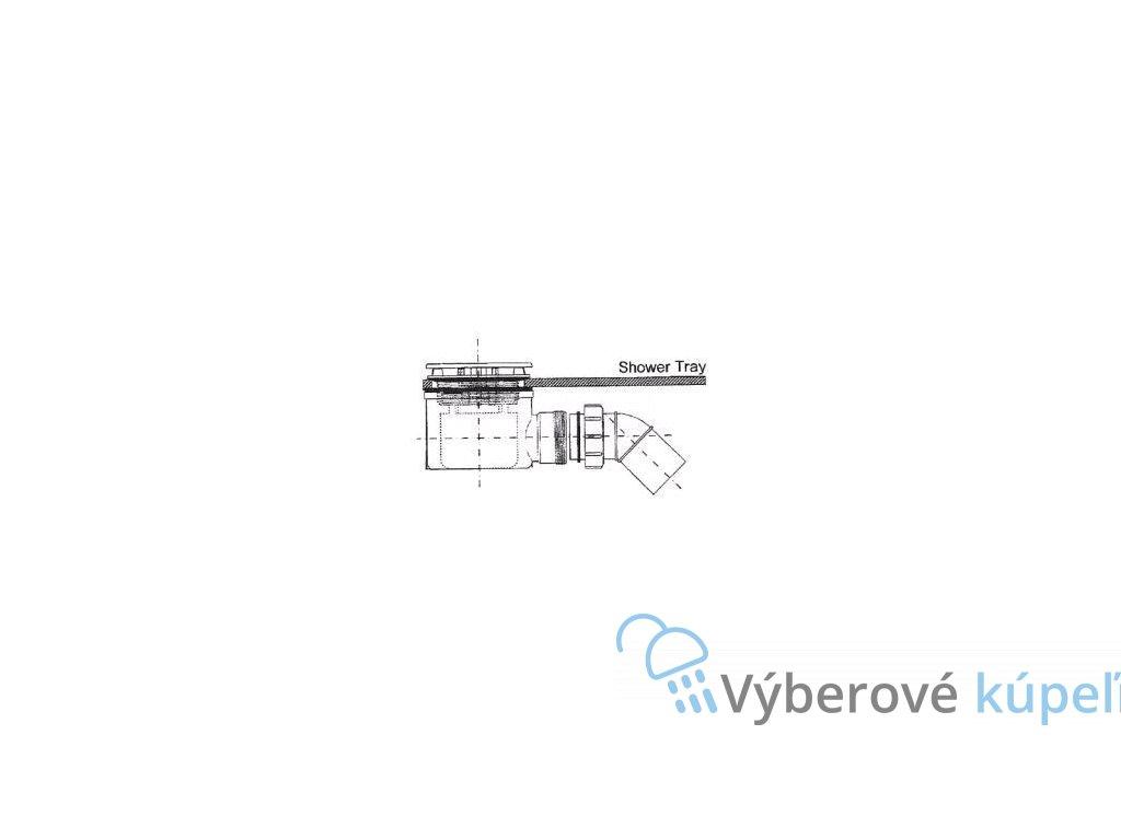 5360 huppe manufaktur easy step sifon sprchovy 90mm vyska 70mm prietok 0 6l s 215480000