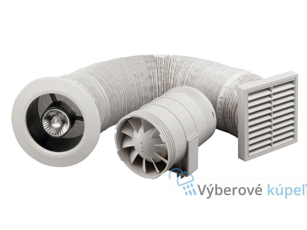 6557 zehnder silent sprchova suprava s potrubnym ventilatorom 100 mm a osvetlenim mriezka biela chrom
