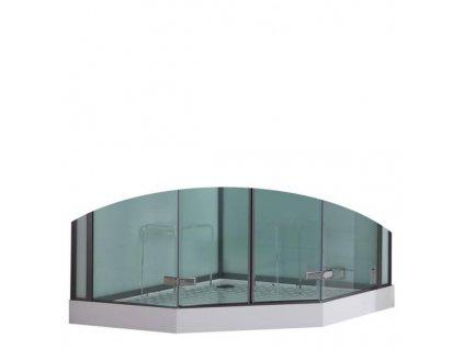 13157 eago sprchova vanicka akrylat svrtkruh 135cm dz994