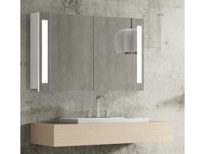 14981 hapa design venedig zrkadlova skrinka 100cm biela s led osvetlenim