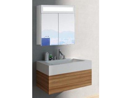 14993 hapa design miami zrkadlova skrinka 60cm biela s led osvetlenim