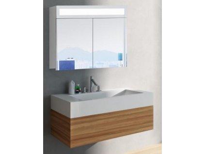 14996 hapa design miami zrkadlova skrinka 80cm biela s led osvetlenim