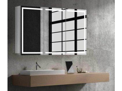 15011 hapa design milano zrkadlova skrinka 100cm biela s led osvetlenim