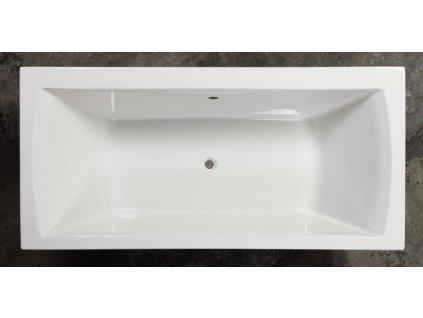 Sanotechnik Orient obdĺžniková akrylátová vaňa 180x80cm (Čelný panel S čelným a bočným panelom)