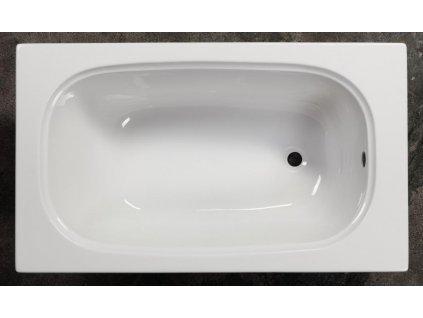 Sanotechnik Linea Mini obdĺžniková akrylátová vaňa 120x70cm (Čelný panel S čelným a bočným panelom)