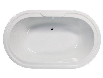 15971 sanotechnik kos ovalna akrylatova vana 192 5x117cm