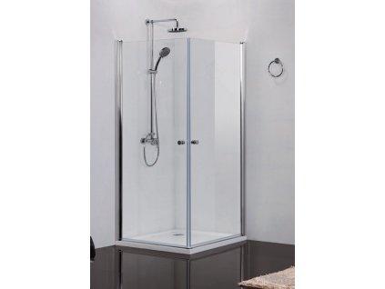 2411 sanotechnik elegance stvorcovy sprchovy kut sirka 80cm otvarave dvere cire sklo n1280