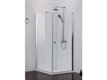 2417 sanotechnik elegance stvorcovy sprchovy kut sirka 80cm otvarave dvere pevna cast cire sklo n1580