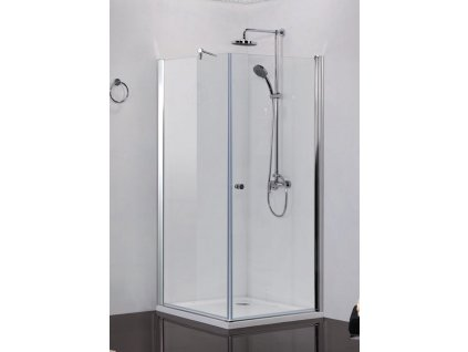2420 sanotechnik elegance stvorcovy sprchovy kut sirka 90cm otvarave dvere pevna cast cire sklo n1590