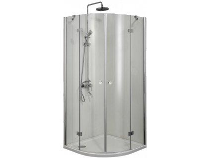 2429 sanotechnik smartflex stvrtkruhovy sprchovy kut sirka 90cm otvarave dvere cire sklo d2290