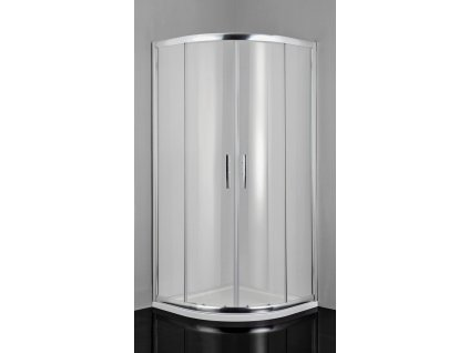2435 sanotechnik pro line stvrtkruhovy sprchovy kut sirka 80cm posuvne dvere cire sklo b8080c
