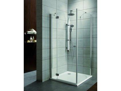 Radaway Torrenta KDJ štvorcový sprchový kút, šírka 90cm, fix + otváravé dvere, číre sklo (Umiestnenie dverí Pravé dvere)
