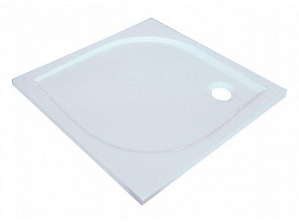 Sanotechnik Aneta sprchová vanička, liaty mramor, štvorec, 80cm, 90000 (Čelný panel S čelným panelom)