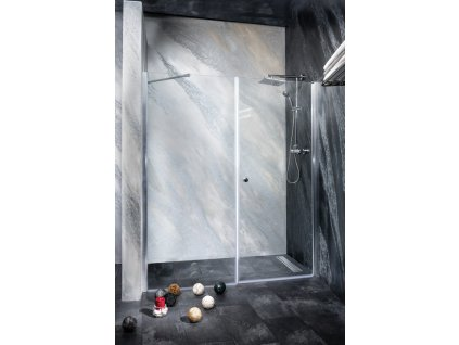 Sanotechnik Sanoflex Brava+Young sprchová zástena, otváravé dvere + fix, šírka 140-220cm (Rozmer 90cm, Spôsob otvárania fixné sklo)