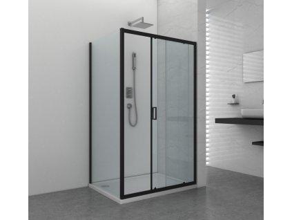 39599 1 sanotechnik soho elite black obdlznikovy sprchovy kut 100x90cm posuvne dvere fix
