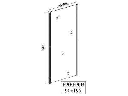 Sanotechnik SOHO Elite Black obdĺžnikový sprchový kút, 120x90cm, posuvné dvere+fix