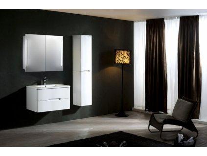 39698 hapa design paris hlinikova zrkadlova skrinka 80cm biela s led osvetlenim
