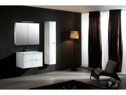 39719 hapa design vienna hlinikova zrkadlova skrinka 80cm biela s led osvetlenim