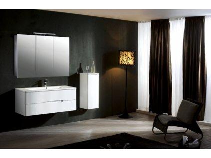 39722 hapa design vienna hlinikova zrkadlova skrinka 100cm biela s led osvetlenim